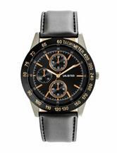 Unlisted Gunmetal-Tone Black Dial Chronograph Watch