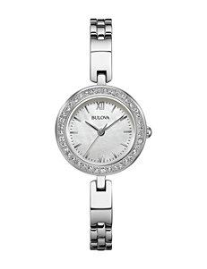 Bulova Ladies Stainless Steel Bracelet Watch Set