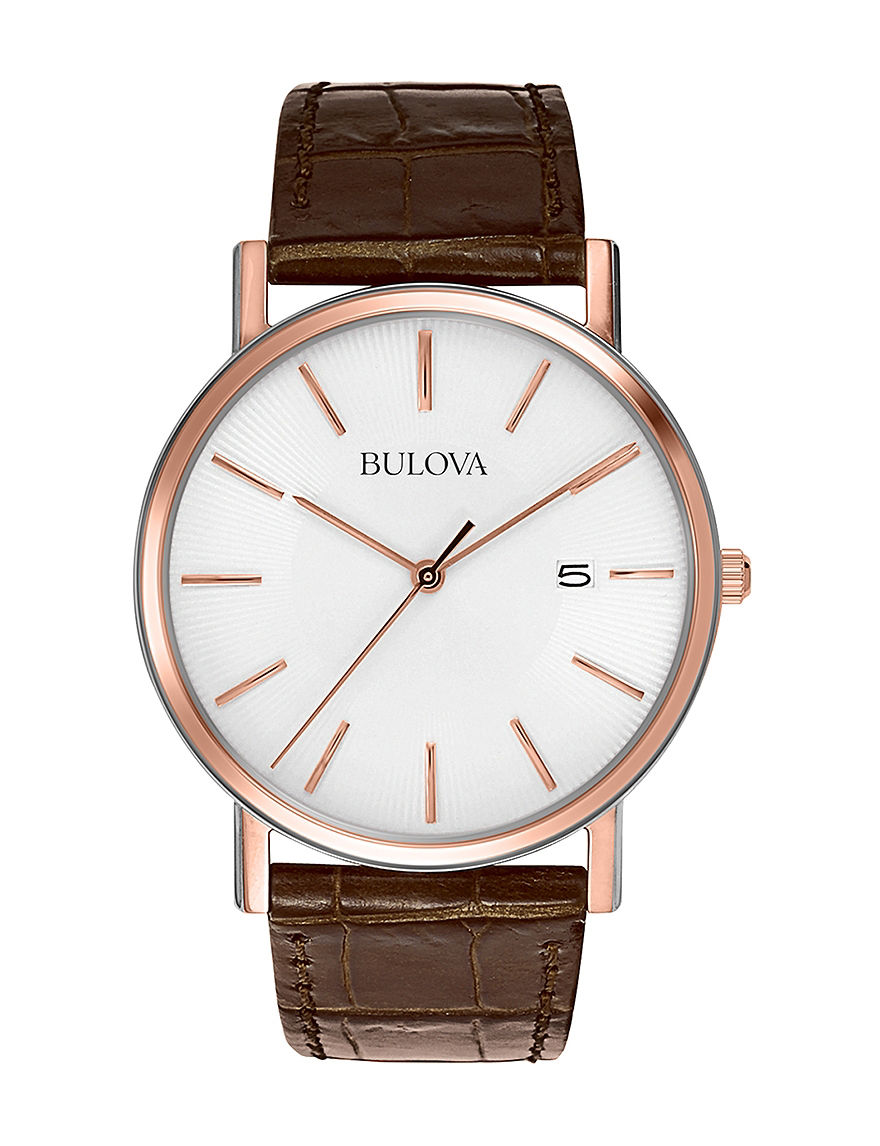 Bulova Brown Fashion Watches