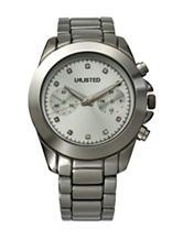 Unlisted Ladies Diamond Accent Silver Bracelet Watch