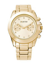 Unlisted Ladies Diamond Accent Gold Bracelet Watch