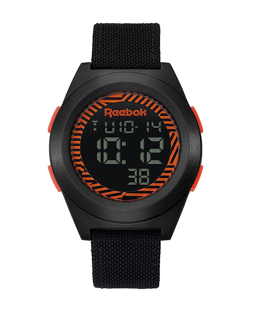 Reebok Black Sport Watches
