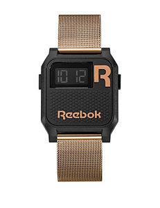 Reebok Black / Gold Fashion Watches