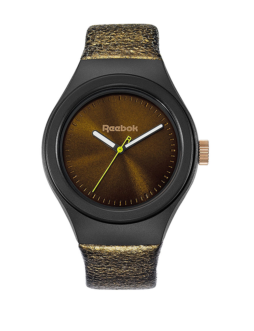 Reebok Black / Gold Fashion Watches