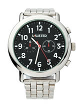 Unlisted Men's Black Dial Silver Link Band Watch