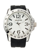 Unlisted Men's White Dial Strap Watch