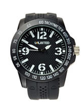 Unlisted Men's Black Dial Strap Watch