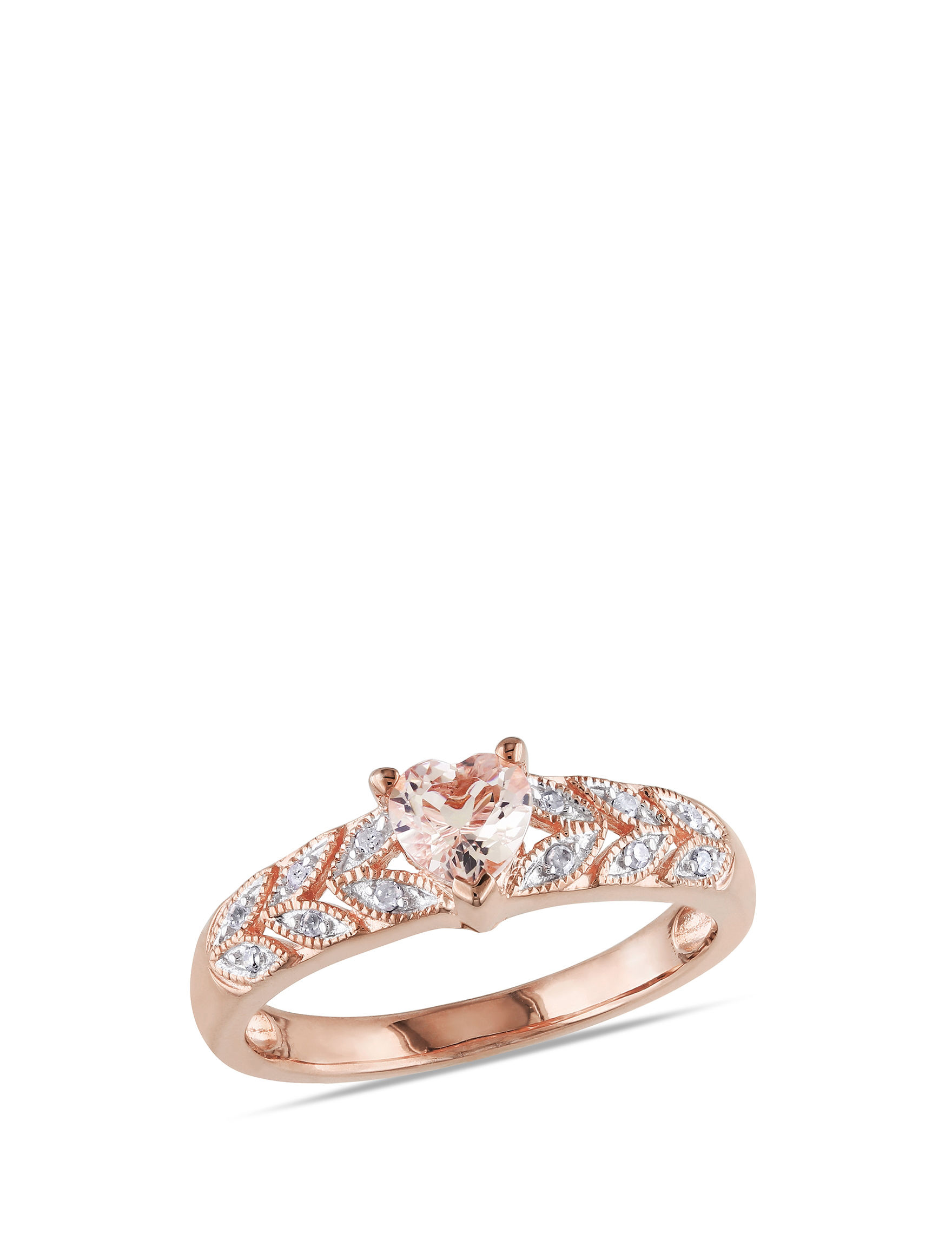 Blush Collection Rose Silver Rings Fine Jewelry
