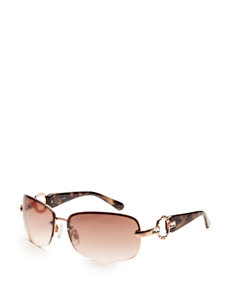 Signature Studio Rimless Circle Stone Sunglasses