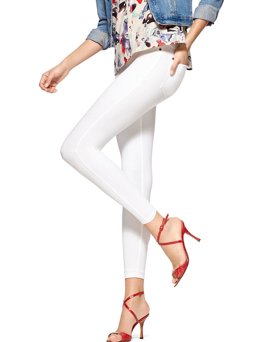 Hue White Leggings