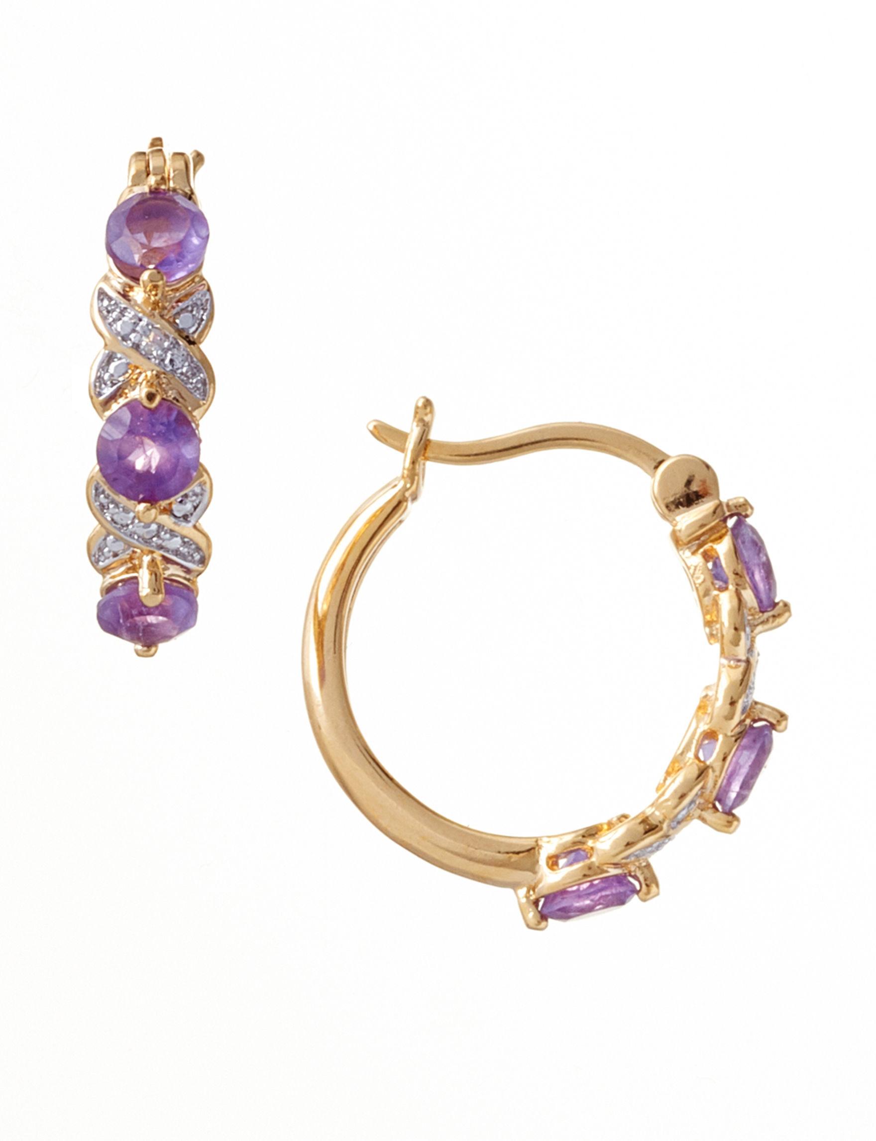 PAJ INC. Purple Earrings Fine Jewelry