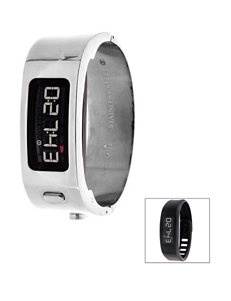 Garmin Vivofit 2 Silver-tone Bangle Digital Watch