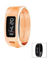 Garmin Vivofit 2 Rose Gold-Tone Signature Bangle Digital Watch