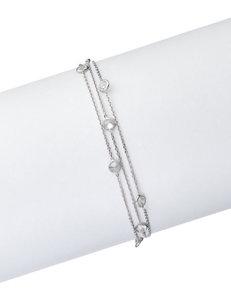 Kencraft White / Silver Bracelets Fine Jewelry