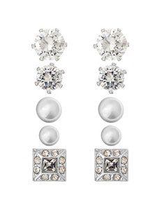Fashion Accents Silver Studs Earrings Fashion Jewelry