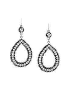 Jessica Simpson SIlver Drops Earrings Fashion Jewelry