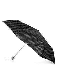 Totes Polka Dot Folding Umbrella