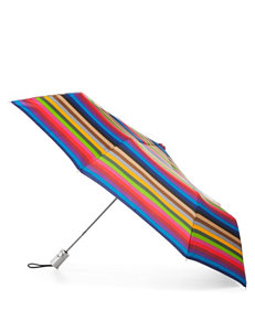 Totes Striped Auto Open Umbrella