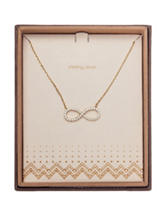 NES Gold-Plated Infinity Crystal Pendant Necklace