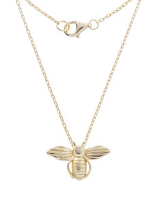 NES Gold-Plated Sterling Silver Bee Pendant Necklace