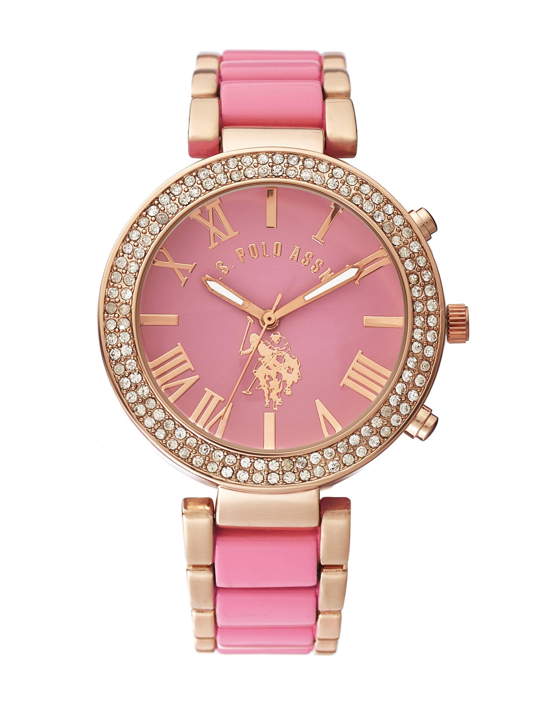 U.S. Polo Assn. Gold Fashion Watches