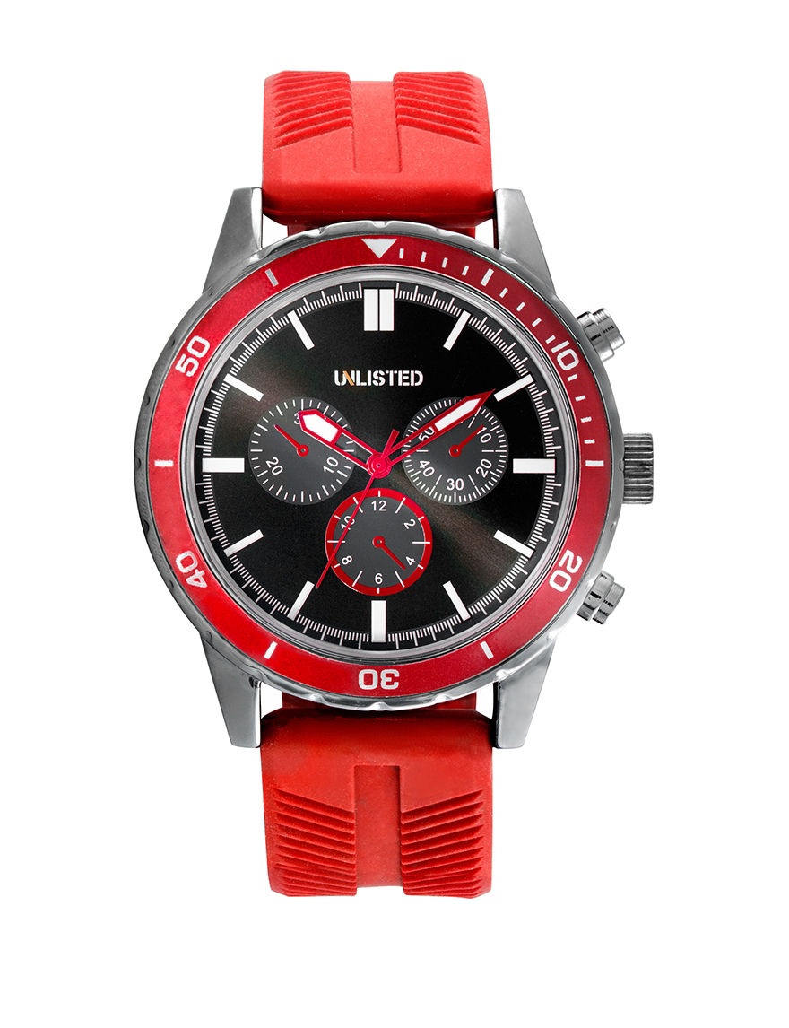 Unlisted Red Sport Watches
