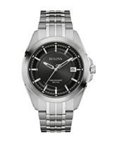 Bulova UHF Precisionist Mineral Glass Silver-Tone Bracelet Watch