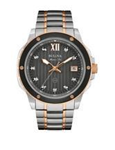Bulova Diamond Accent Two-Tone Link Watch
