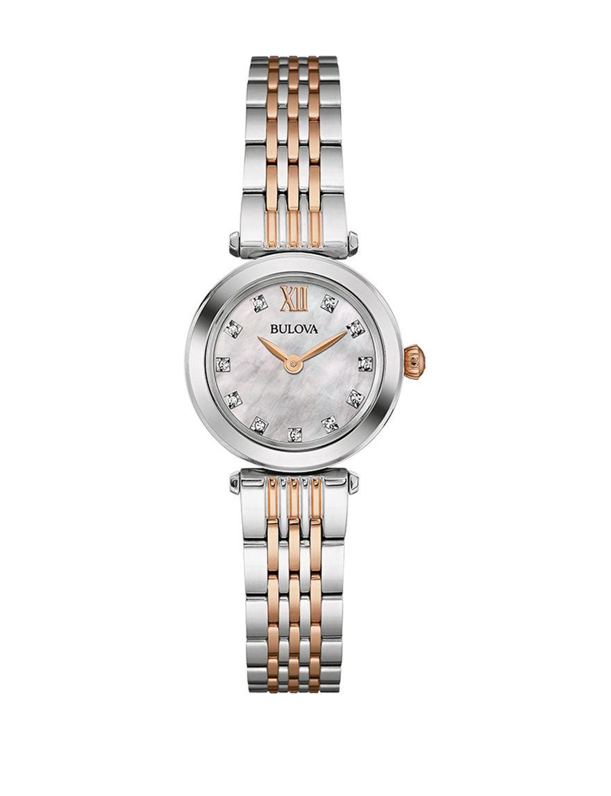 Bulova Two Tone Fashion Watches