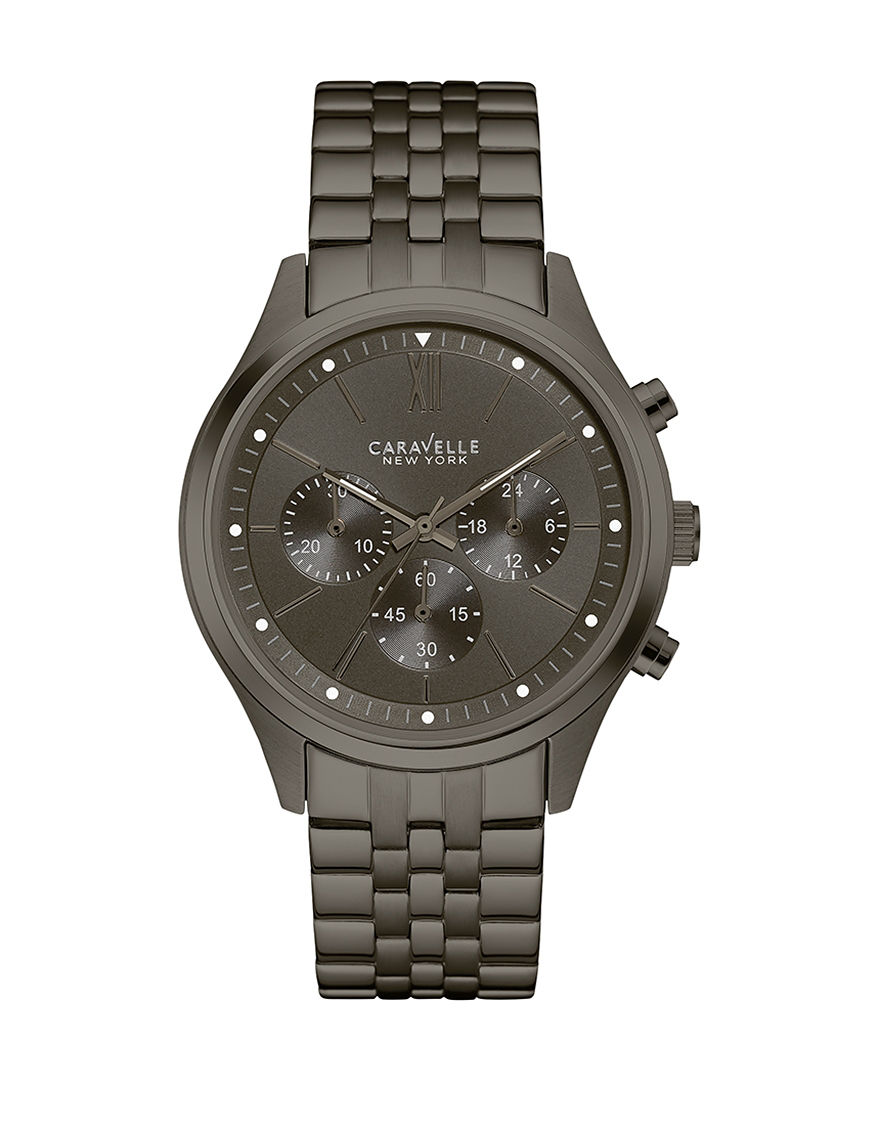 Caravelle Gunmetal Fashion Watches