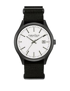 Caravelle Gunmetal Fashion Watches Sport Watches