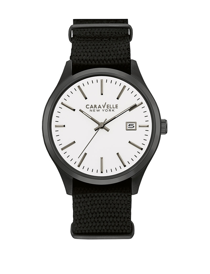 Caravelle Gunmetal Fashion Watches Sport Watches
