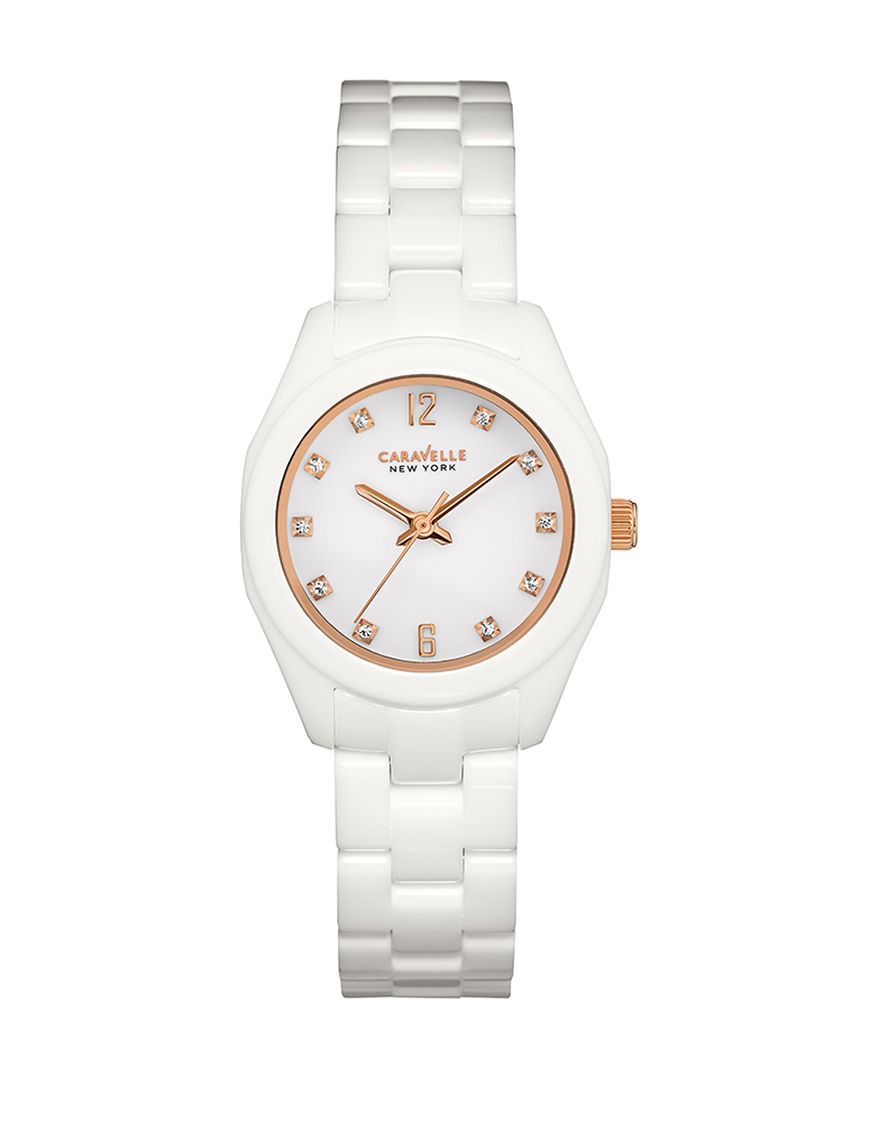 Caravelle White Fashion Watches