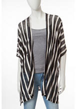 Cejon Striped Burnout Ruana Top
