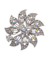 Napier Flower Crystal Pin Brooch