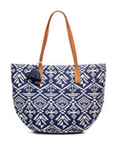 Signature Studio® Navy Aztec Tote Handbag