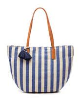 Signature Studio® Striped Woven Tote Handbag