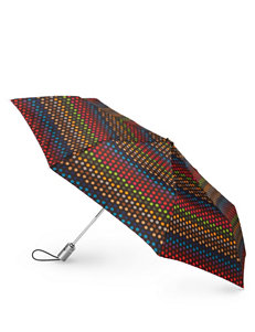 Totes Dotted Print Auto Open/Close Umbrella