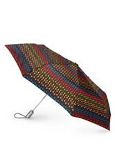 Totes Dotted Print Auto Open/Close Umbrella
