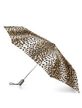 Totes Leopard Print Auto Open/Close Umbrella
