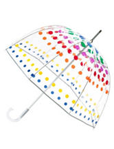 Totes Dotted Bubble Stick Umbrella