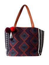 Olivia Miller Pom Pom Aztec Print Tote Bag