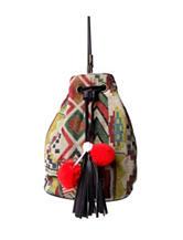 Olivia Miller Pom Pom Aztec Print Bucket Bag