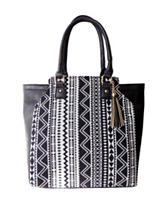 Olivia Miller Aztec Print Tassel Tote Bag
