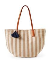 Signature Studio® Taupe Striped Canvas Tote Handbag