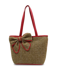 Bueno Straw Bow Tote Handbag