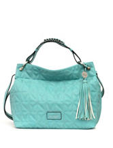 Nicole Miller Madison Casual Bright Blue Hobo Bag