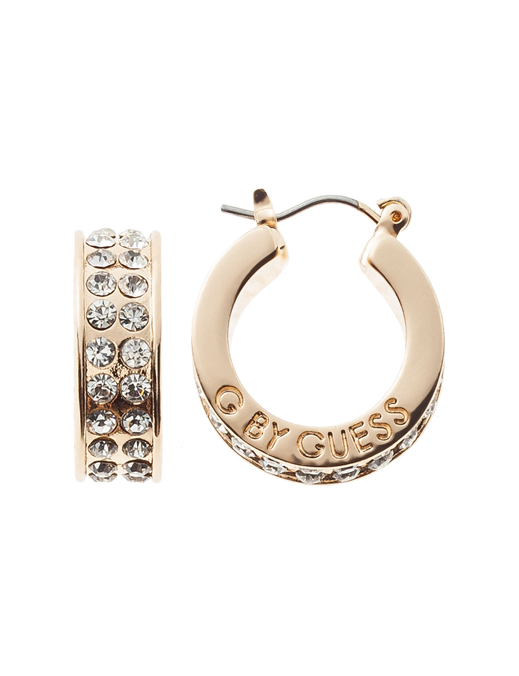 G by Guess Gold Hoops Earrings Fashion Jewelry