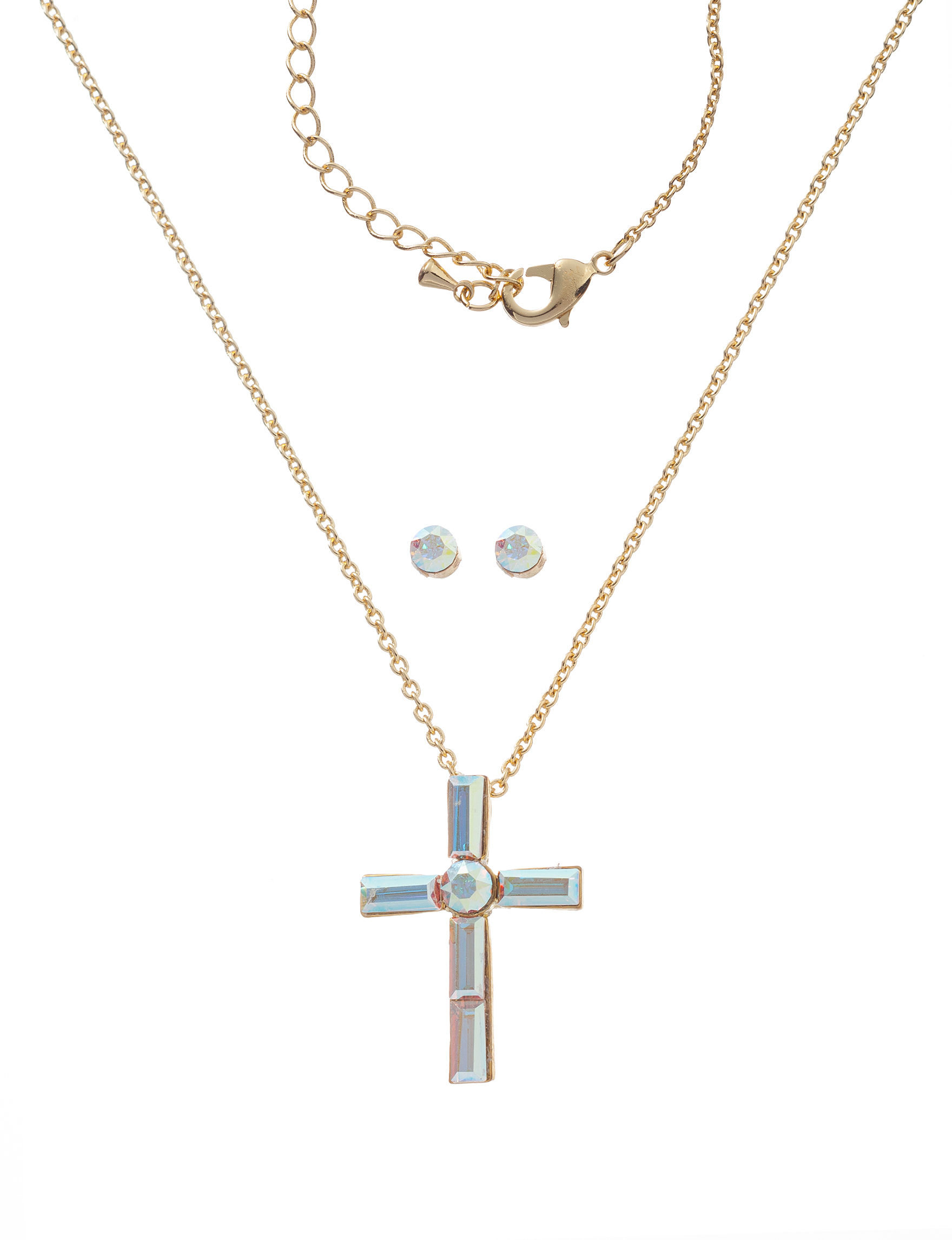 Cellini White / Silver Studs Fine Jewelry