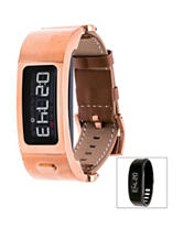 Garmin Vivofit 2 Rose Gold-Tone Leather Strap Digital Watch